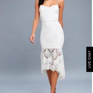 Lulus white fun lace dress- brand new- never worn